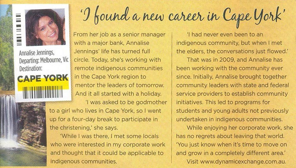 I found a career in Cape York article. Click on image to enlarge.