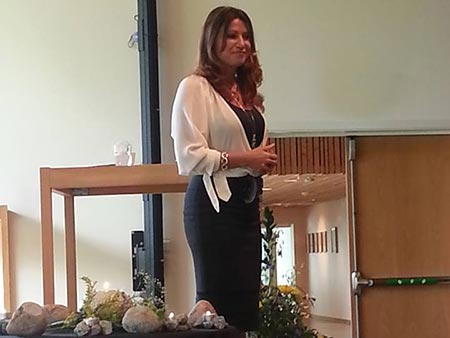 Annalise Jennings speaking at the CTT International Conference in Sweden